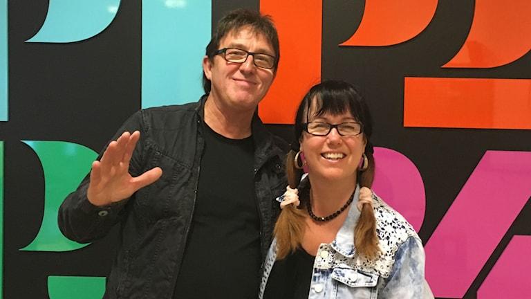 Peter Grundström och Agneta Olsson från Thor-Görans. Foto: Clara Åström/Sveriges Radio
