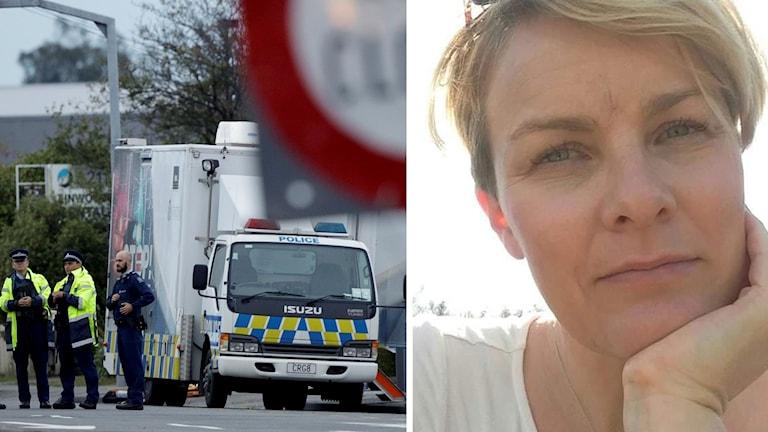 Sara Frigell från Sundsvall som bor i Nya Zeeland är chockad över terrrordådet i Christchurch.