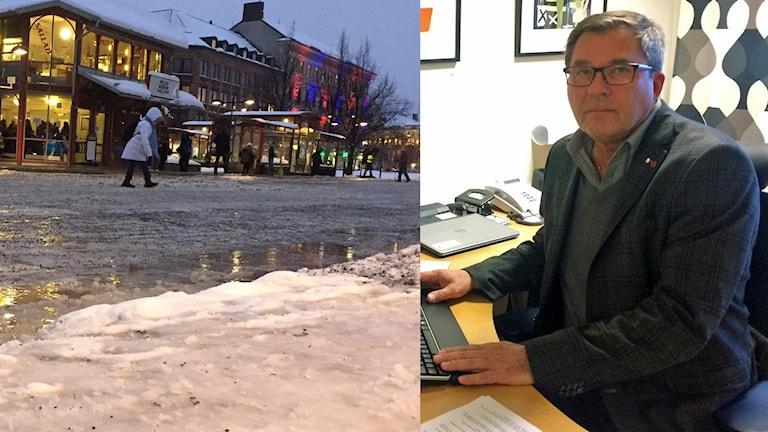 Bussstationen Navet i Sundsvall och Anders Hedenius (S) ordförande i stadsbyggnadsnämnden.
