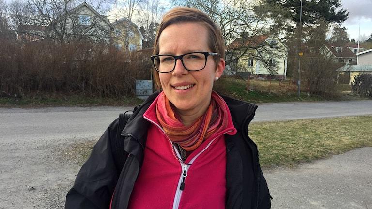 Elin Hagen, barnsjuksköterska på barn- och ungdomspsykiatrin på Sundsvalls sjukhus. Foto: Billy Abraha/SR