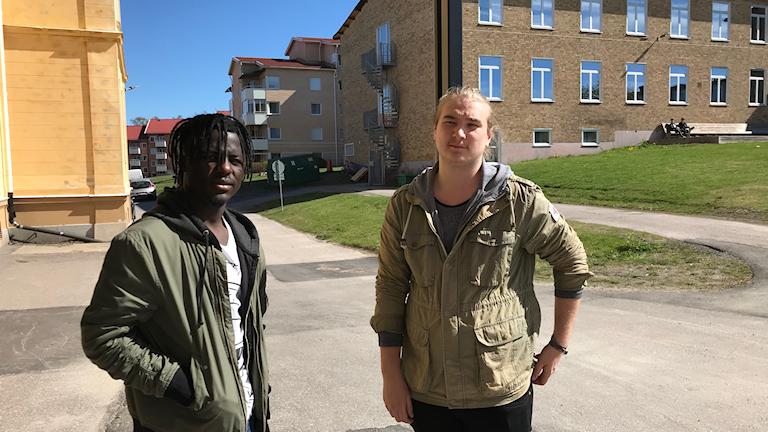 Phaniel Kakopande, Michael Gunnersen, elever Härnösands gymnasium