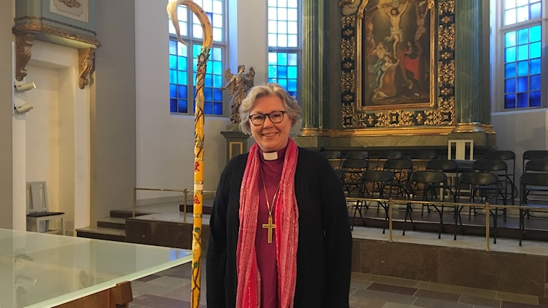 Biskop Eva Nordung Byström i domkyrkan i Härnösand. Foto Ulla Öhman