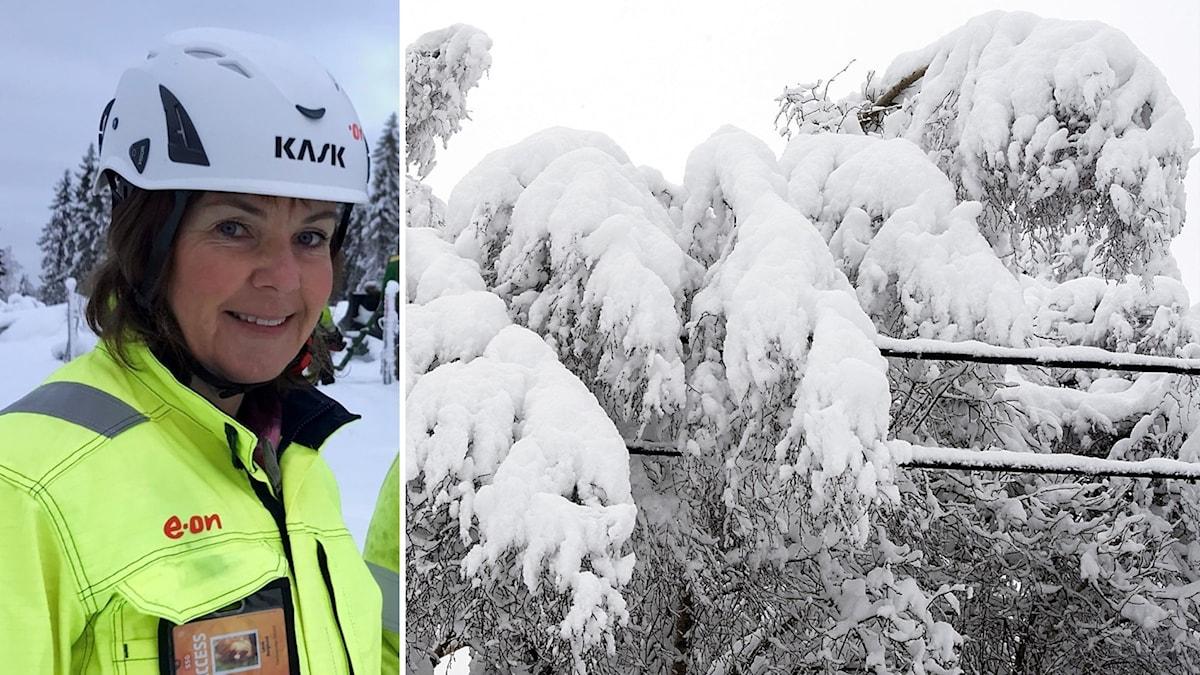 Lena Berglund regionchef Eon och snö vinter