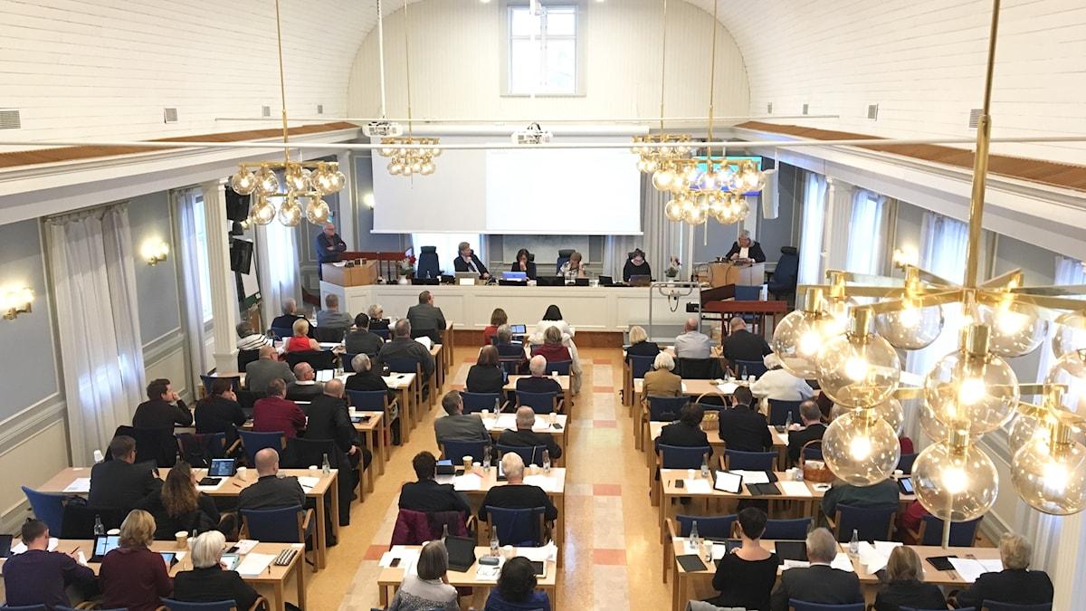 Regionfullmäktige. Foto: Ulla Öhman/Sveriges Radio