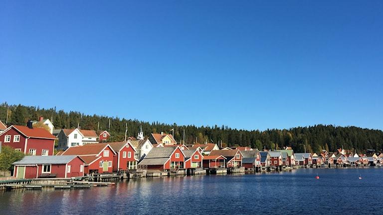 Sjöbodar i Ulvöhamn.