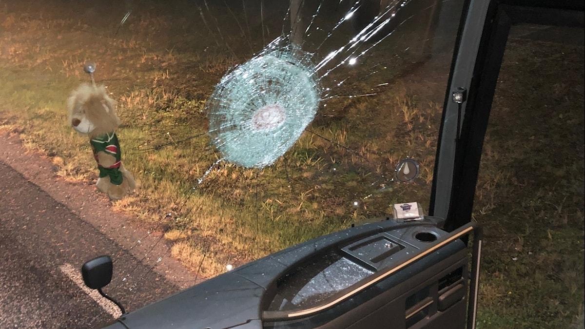 Kristianstad IK:s attackerade spelarbuss
