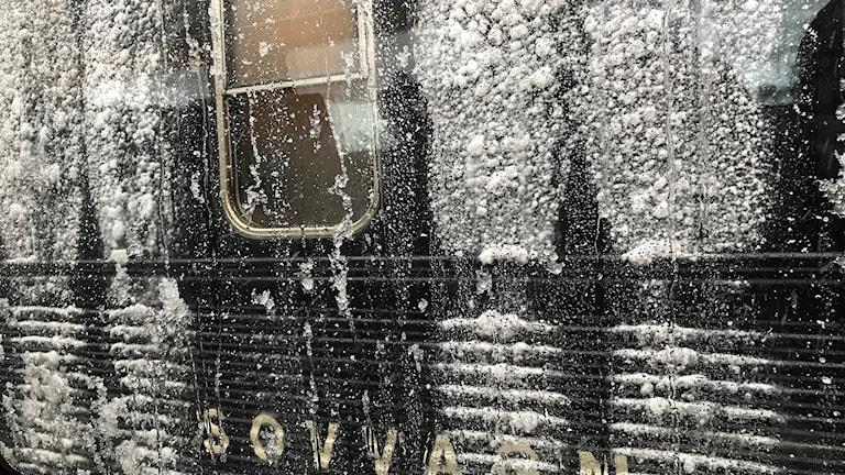 Nedisad sovvagn vid Sundsvalls centralstation. Foto: TullaMaja Fogelberg/Sveriges Radio
