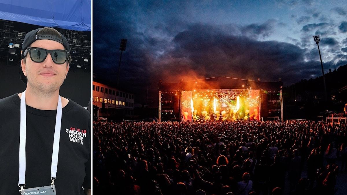 Dino Vulic till och en bild från festivalen Sensommar i Sundsvall.