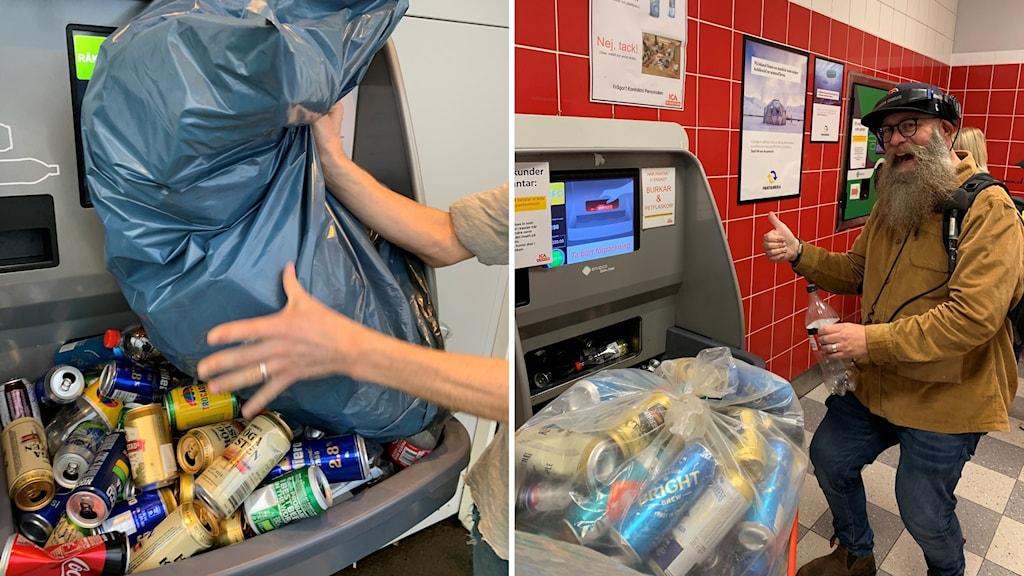 P4 Västernorrland pantade burkar och flaskor för insamlingen till Världens Barn