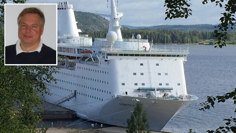 Kjell Tandberg infälld i en bild av Ocean Gala från Utansjö hamn. Foto: Ingrid Engstedt Edfast/Sveriges radio/Privat