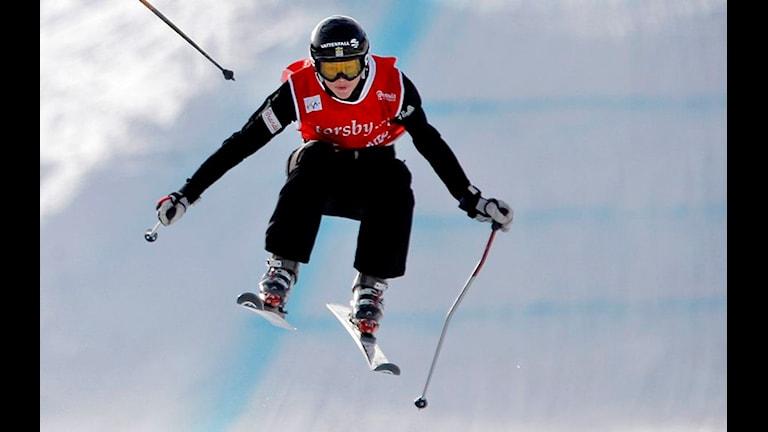 Anna Holmlund vann världscuppremiären. Foto: Mattias Lundin/Scanpix