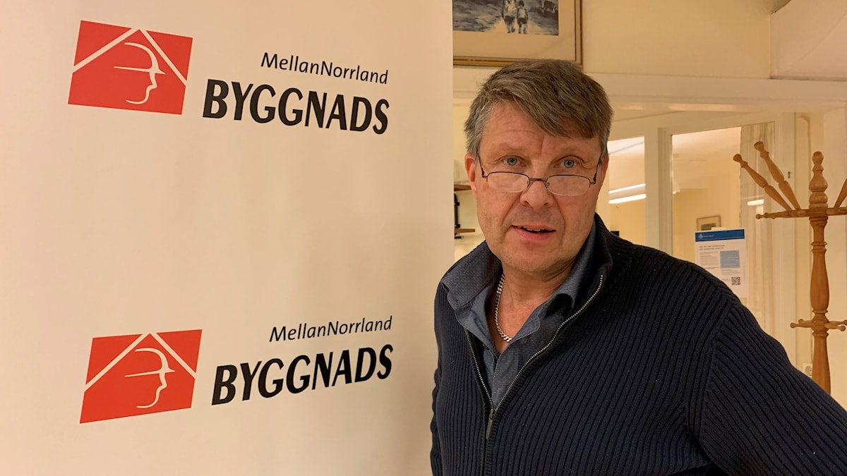 Jim Sundelin, ordförande Byggads Mellannorrland.