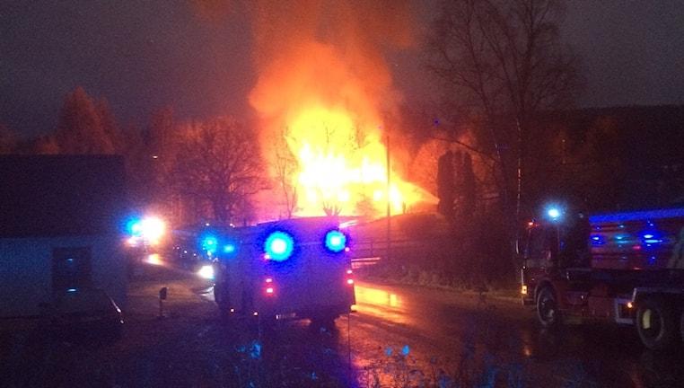 Villabrand i Herrskog