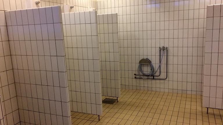 Skolduschar på Själevadsskolan.