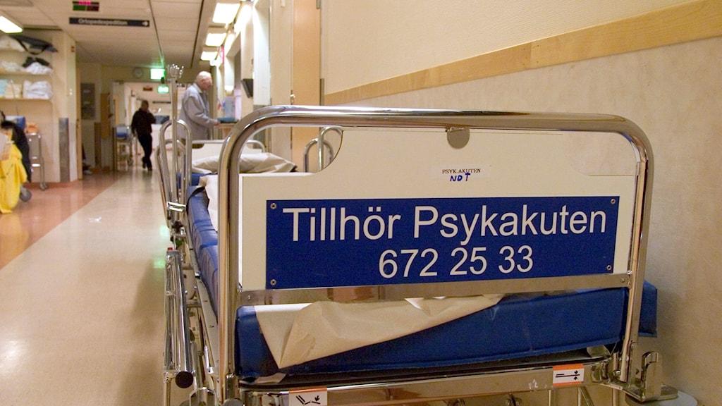 Patientsäng. Foto: Erik G Svensson/SCANPIX SWEDEN