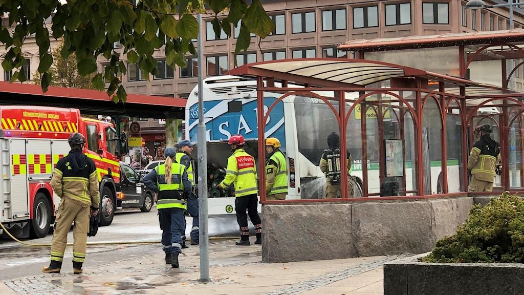 Bussbrand Navet Sundsvall