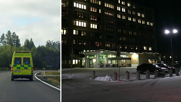 Ambulans, Sollefteå sjukhus, splittbild.