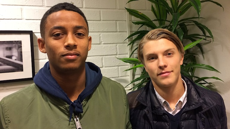 Jonathan Morsay och Erik Granat i Gif Sundsvall. Foto: Ann-Charlotte Carlsson/Sveriges Radio