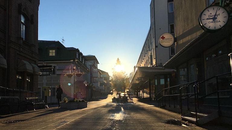 Sollefteå gågata i oktober