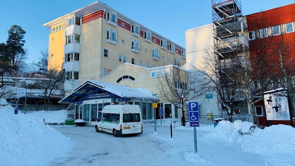 Örnsköldsviks sjukhus entré.