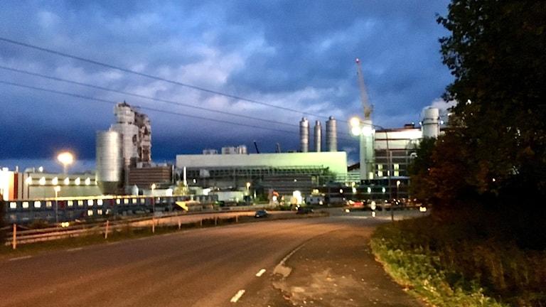 Östrand massafabrik utanför Timrå. Foto: Matilda Jansson/Sveriges Radio