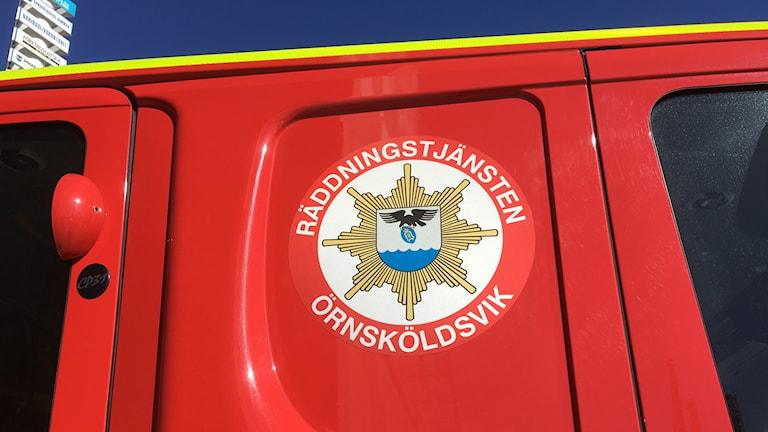 Emblem brandbil