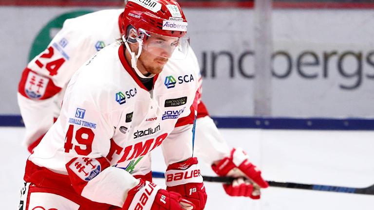 Timrås Sebastian Collberg gjorde första och enda målet som gav Timå seger mot Färjestad.