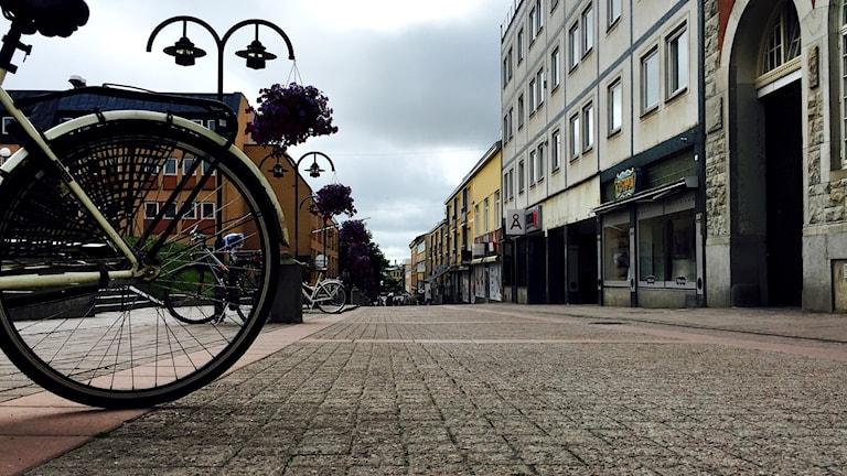 Bild från Storgatan i centrala Härnösand. Foto: Alexander Arvidsson/Sveriges Radio