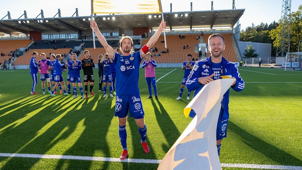 Sundsvalls Linus Hallenius efter fotbollsmatchen i Superettan mellan Västerås SK och GIF Sundsvall
