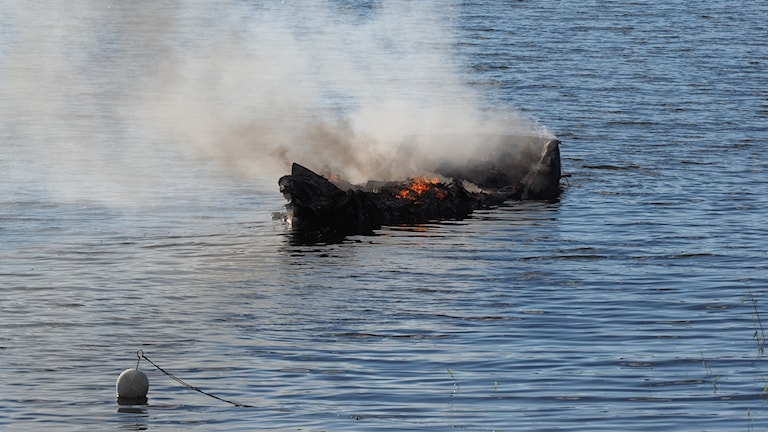 Båtbrand, Alnö