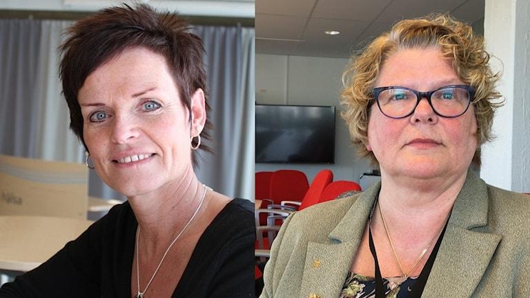 Lena Thelin, tidigare HR-chef på Landstinget och Inger Bergström, regiondirektör.
