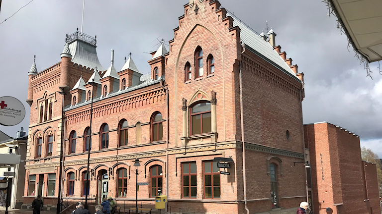 Apotekshuset Sollefteå museum, gammalt trevånings tegelhus