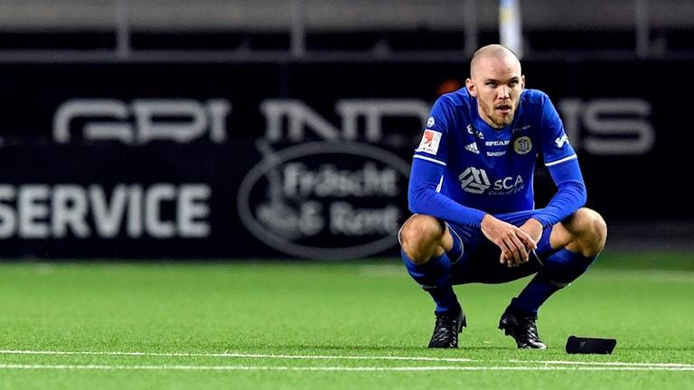 Sundsvalls Marcus Danielsson deppar efter fotbollsmatchen i Allsvenskan mellan Elfsborg och Sundsvall den 15 oktober 2017 i Borås. Foto:   Jörgen Jarnberger/Bildbyrån