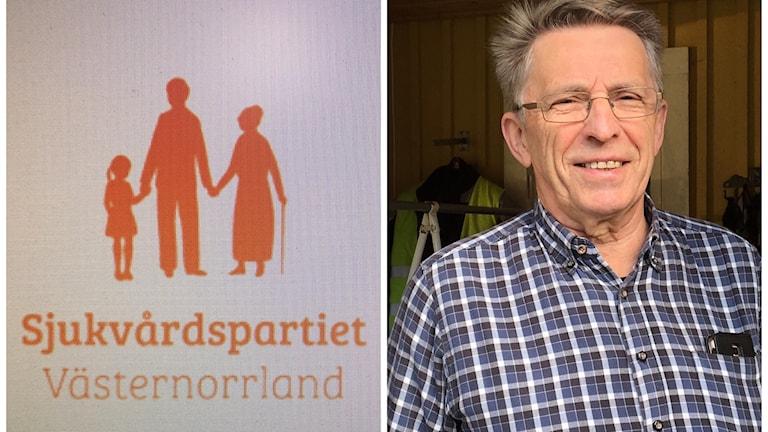 Yngve Nilsson är ordförande för Sjukvårdspartiet Västernorrland. Foto Ulla Öhman