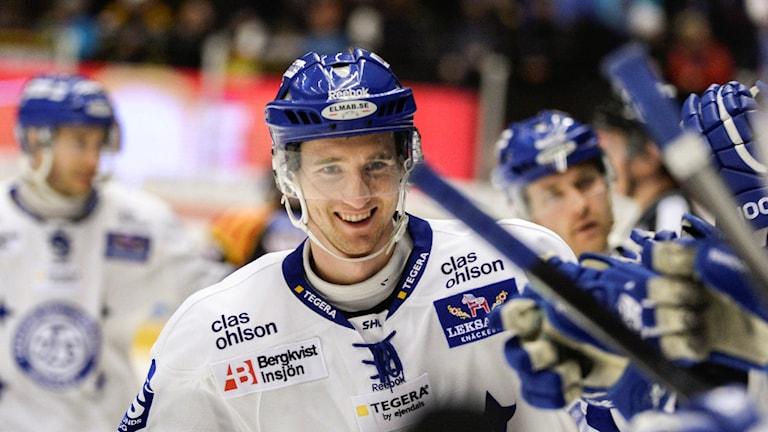 Pär Edblom när han spelade för Leksand. Foto: Pontus Lundahl/TT