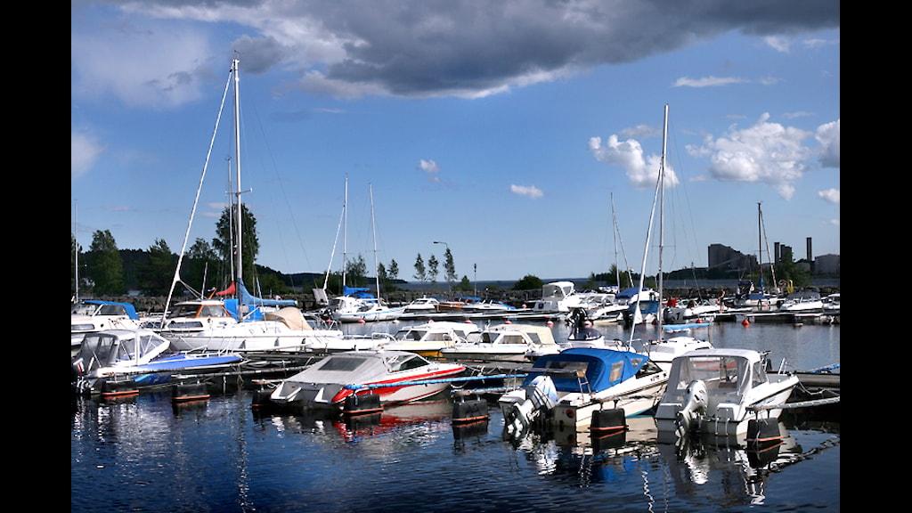Småbåtshamnen i Sundsvall. Foto: Ingrid Engstedt Edfast