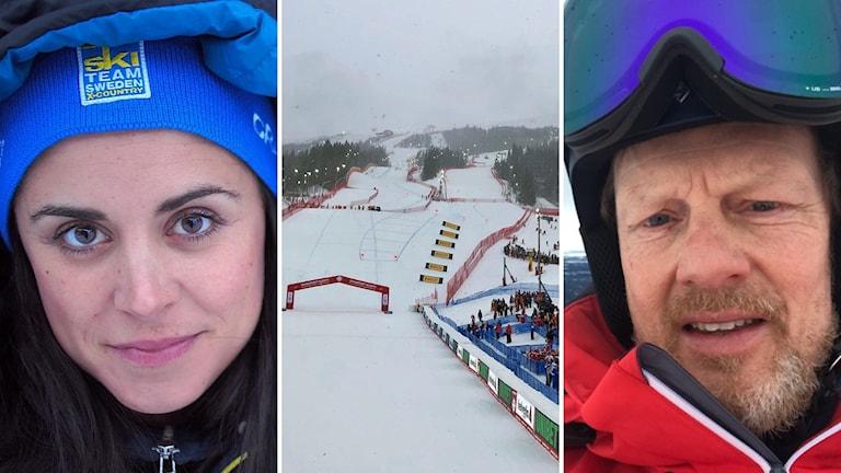 Bilder på Anna Haag, VM-backen i Åre och Tomas Wahlund som jobbar vid Alpin-VM
