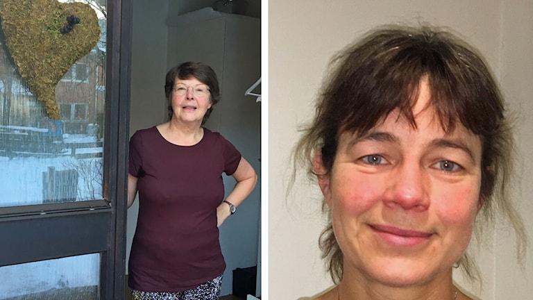 Patienten Gunvor Swenning och Anna-Lena Sunesson på Regionalt cancercentrum i Umeå är båda överens om att det borde vara rutin att patienter uppmanas att ta med anhörig eller vän vid diagnosbesked.