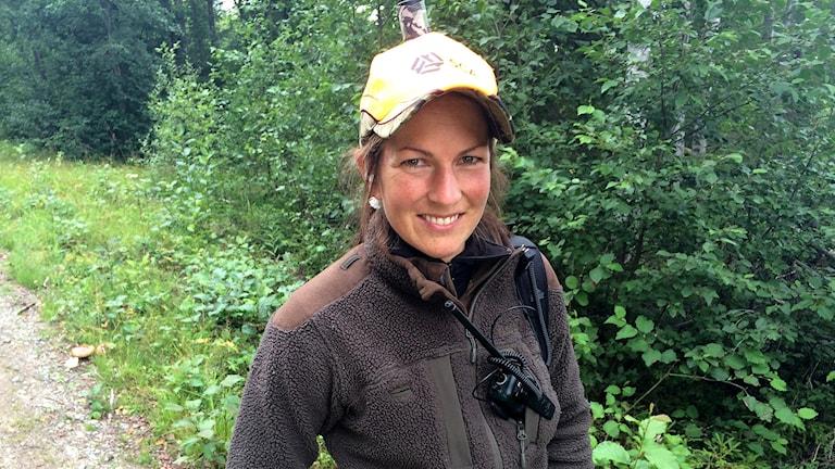 Björnjägare Madelene Tjernberg Dahlin.  Foto: Agneta Jacobsson/Sveriges Radio