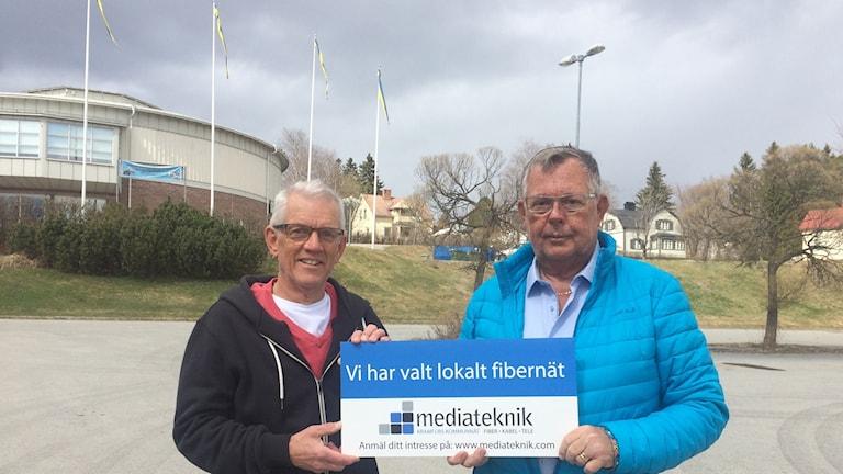 Lars Sjödin och Lars-Erik Hallin. Foto Ulla Öhman