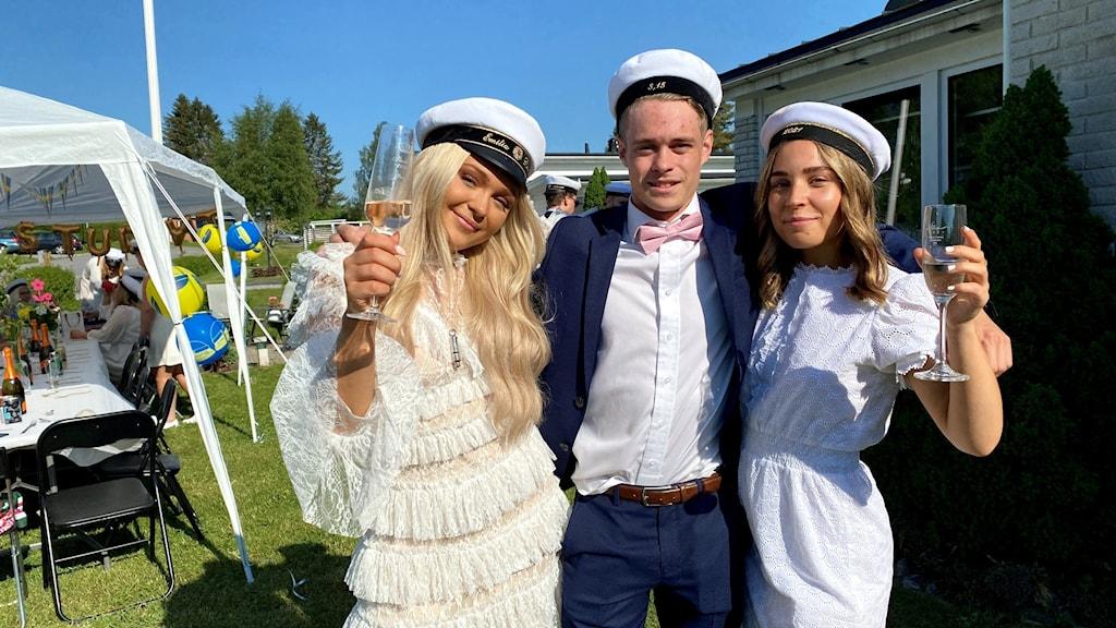 Emilia Bergman, Simon Andersson, Fanny Domeij.