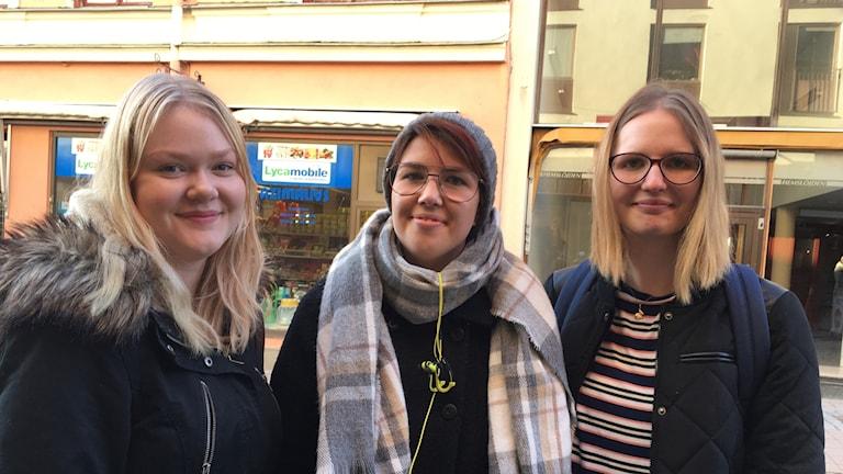 Emma, Jenny och Moa från Härnösand. Foto Ulla Öhman