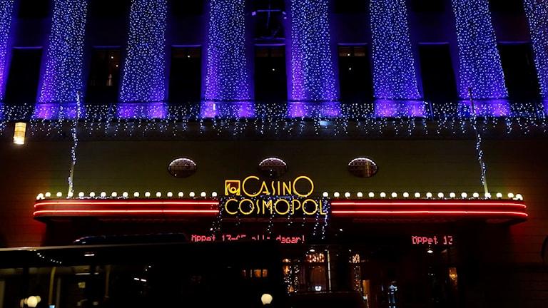 Juldekorerat Casino Cosmopol i Stockholm.