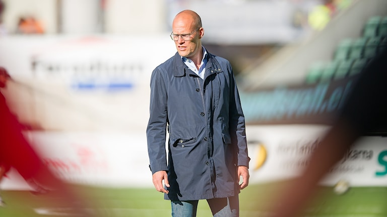 Joel Cedergren, tränare Gif Sundsvall, under en match i allsvenskan. Foto: Pär Olert/Bildbyrån