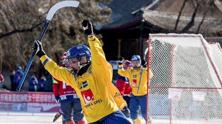 Sveriges damlandslag i VM-segermatchen mot Norge på torsdagen.  Foto: Gert Holmer