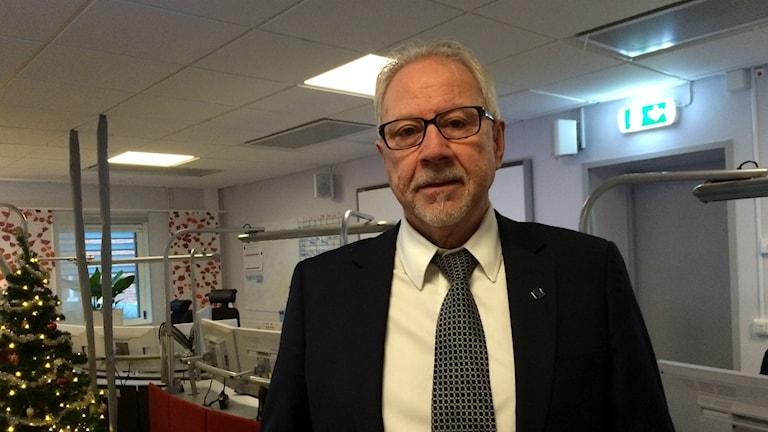 Tommy Sjölander, regionchef SOS alarm norr. Foto: Johanna Svensson/Sveriges Radio