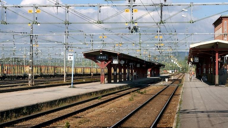 Perrongen på Ånge tågstation. Foto: Ingrid Engstedt Edfast