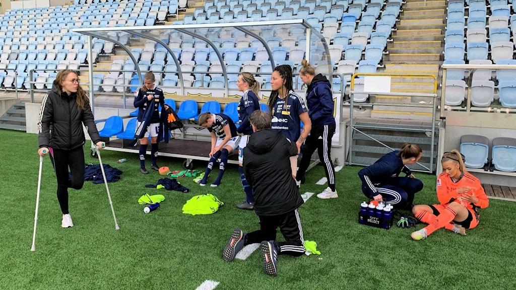 Sundsvalls SDFF efter matchen mot IFK Norrköping