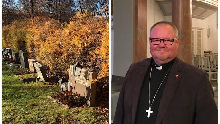 Gravar och domprost Kent Nordin. Foto Ulla Öhman