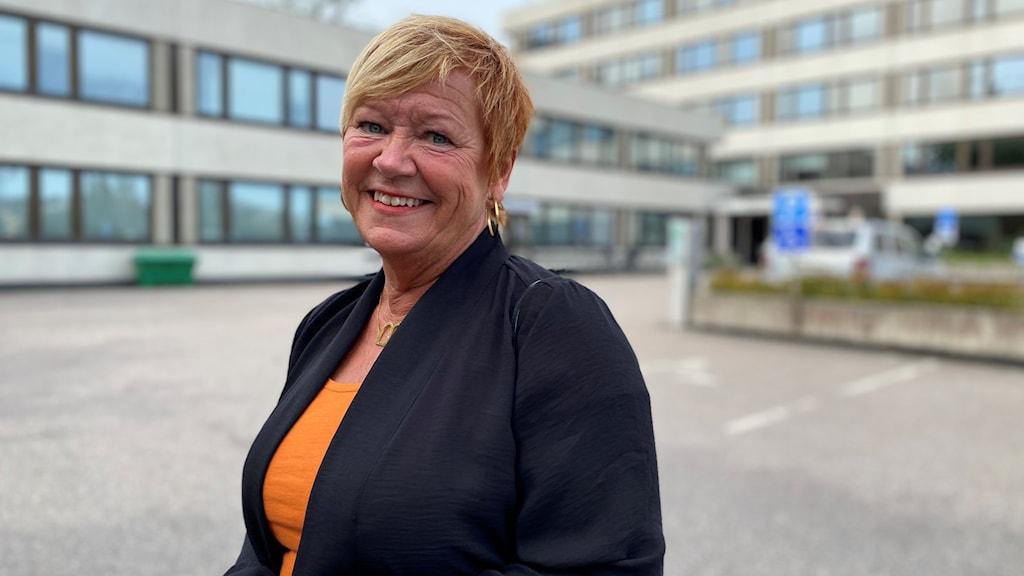 Porträtt på regionpolitiker Birgith Johansson